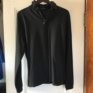 Black Baobab snap collar long sleeve shirt